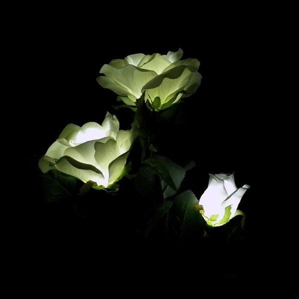 lampe solaire fleur jardin led