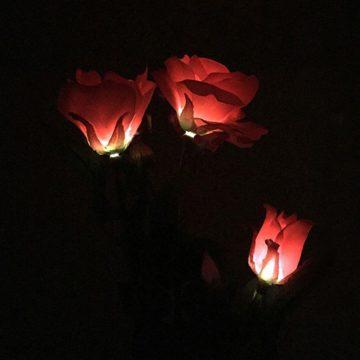 lampe solaire fleur jardin lumineuse
