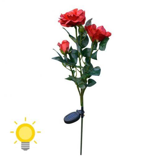 lampe solaire fleur jardin