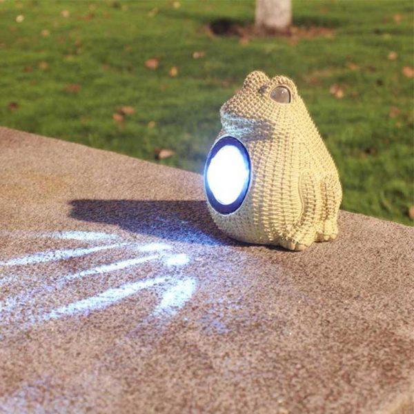 lampe solaire grenouille extérieur
