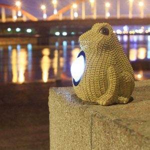 lampe solaire grenouille lumineuse