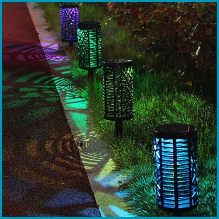 lampe solaire led couleur changeante