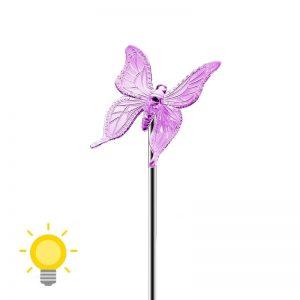 Lampe solaire papillon
