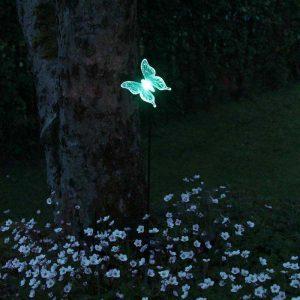 Lampe solaire papillon extérieur