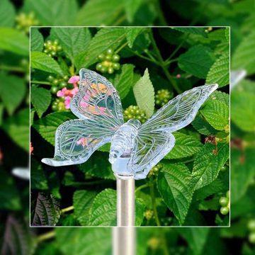 Lampe solaire papillon jardin