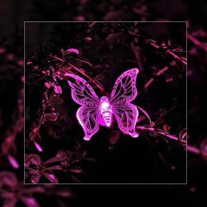 Lampe solaire papillon led