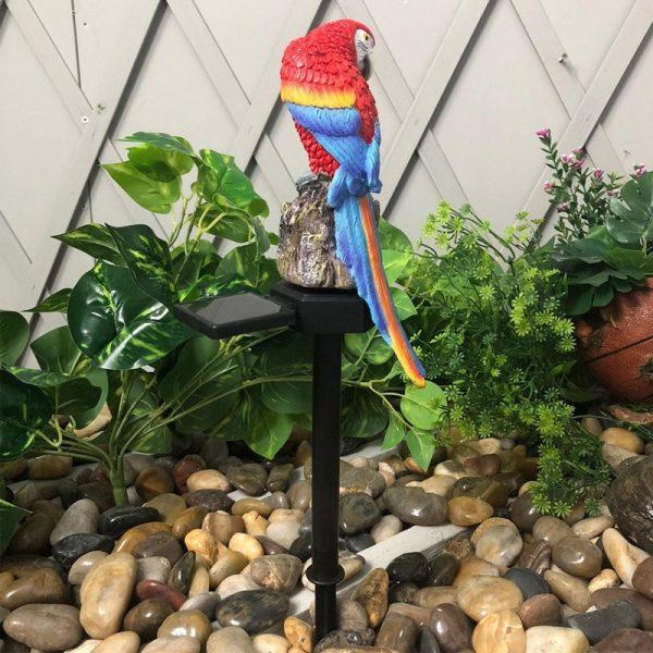 lampe solaire perroquet extérieur