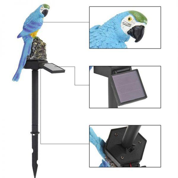 lampe solaire perroquet jardin