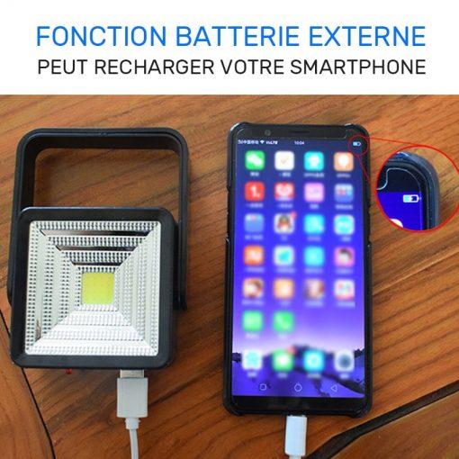 lampe solaire portable batterie