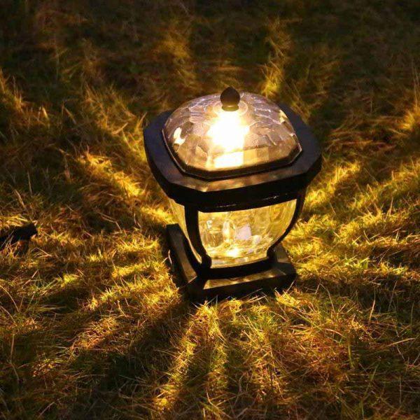 lampe solaire pour pilier de portail lumière chaude