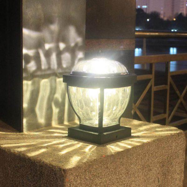 lampe solaire pour pilier de portail extérieur