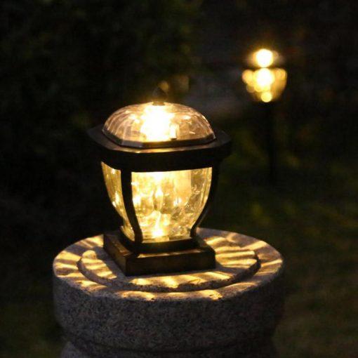 lampe solaire pour pilier de portail jardin
