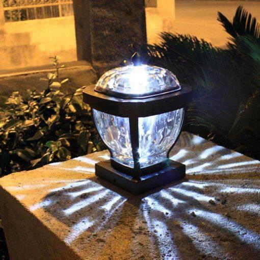 lampe solaire pour pilier de portail led