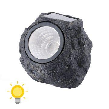lampe solaire rocher