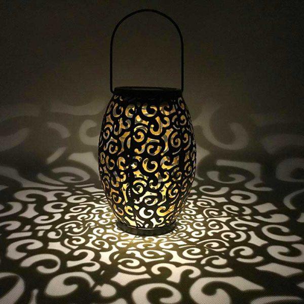 lanterne solaire metal jardin