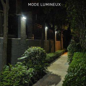 lampe solaire moderne jardin