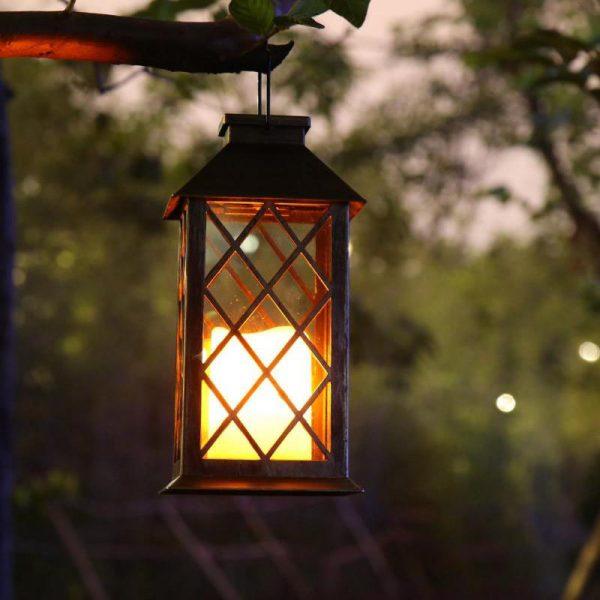 lanterne solaire rétro extérieur