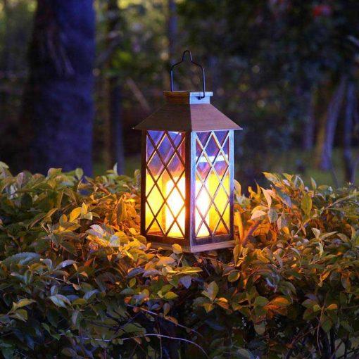 lanterne solaire rétro jardin