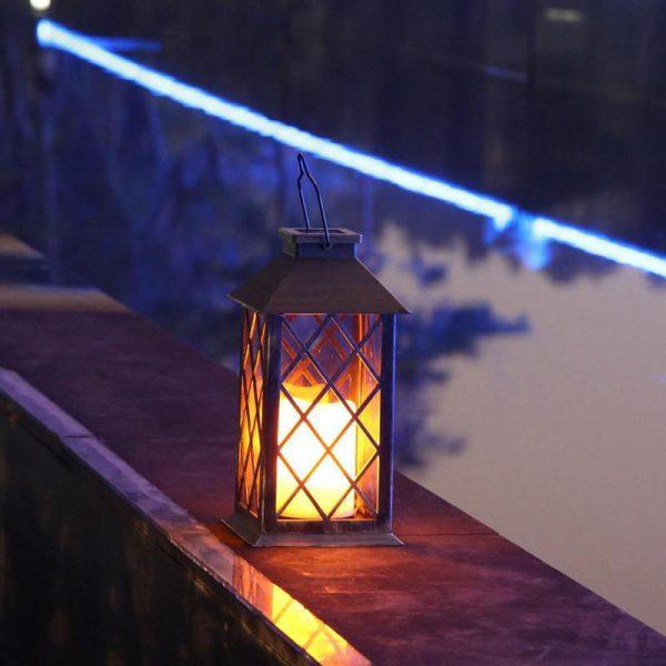 lanterne solaire rétro terrasse