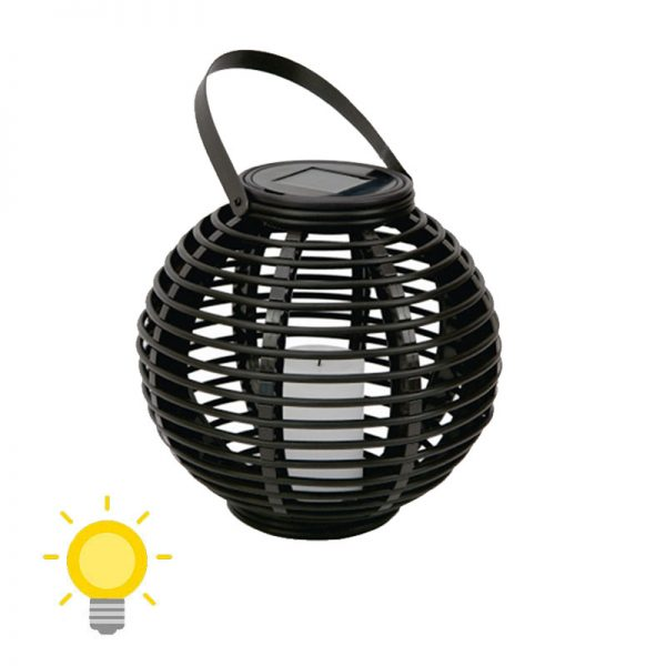 lanterne solaire rotin