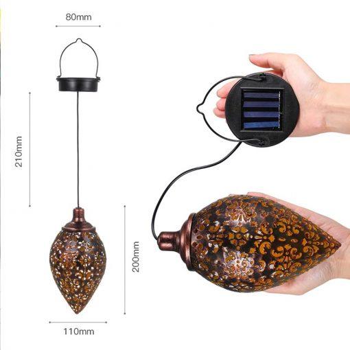 Lanterne solaire vintage dimensions