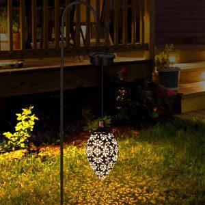 Lanterne solaire vintage extérieur