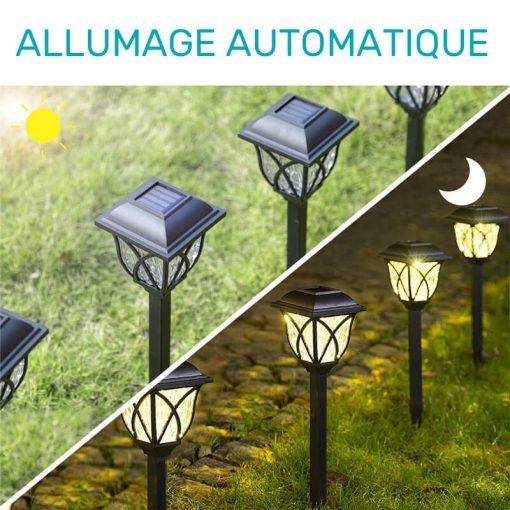 lot de balise solaire jardin extérieur