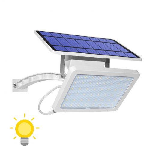 projecteur solaire avec interrupteur blanc