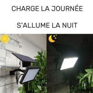 projecteur solaire avec interrupteur puissant
