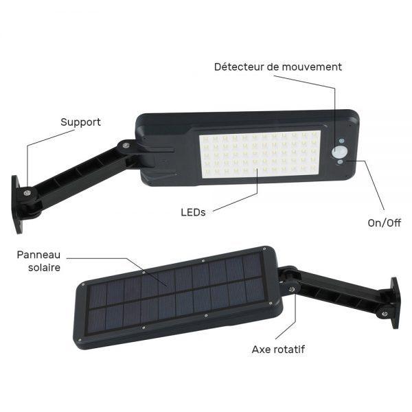 Projecteur solaire détecteur de mouvement pas cher extérieur
