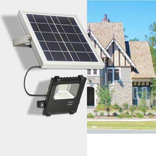 projecteur solaire façade jardin
