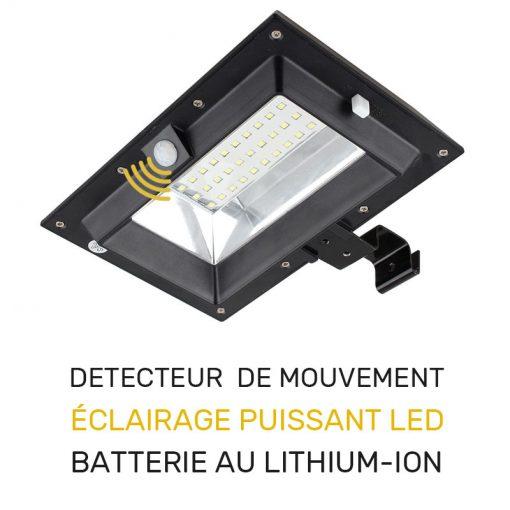 projecteur solaire gouttière extérieur