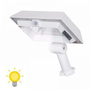 projecteur solaire gouttière blanc