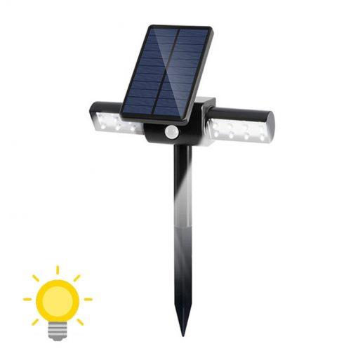 spot solaire à LED avec détecteur de mouvement