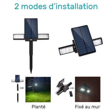 spot solaire à LED avec détecteur de mouvement pas cher