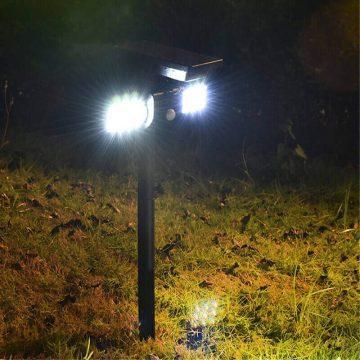 spot solaire à LED avec détecteur de mouvement jardin