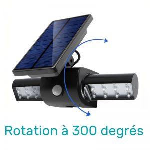 spot solaire à LED avec détecteur de mouvement rechargeable