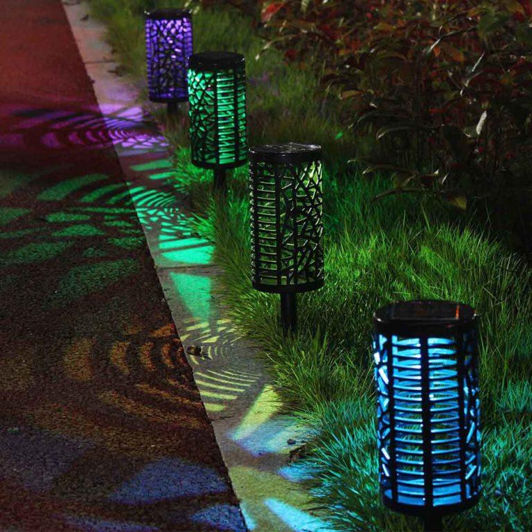 Lampe solaire extérieur couleur jardin 1