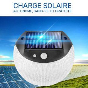 applique murale exterieur solaire led avec détecteur de mouvement puissante
