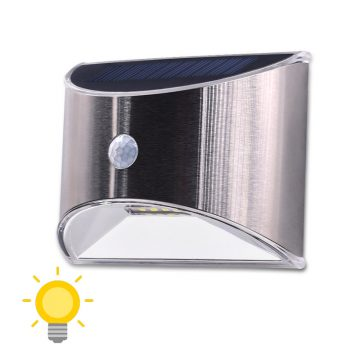 applique solaire inox