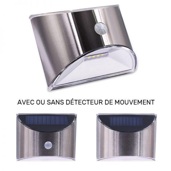 applique solaire inox detecteur de mouvement