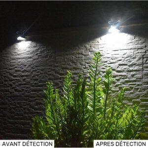 applique solaire inox led
