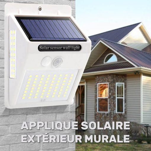 applique solaire murale extérieur LED