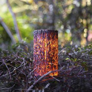 borne solaire bûche lampe