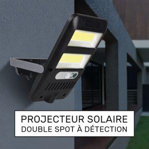 éclairage extérieur solaire à détection LED