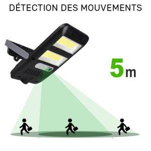éclairage extérieur solaire a detection pas cher