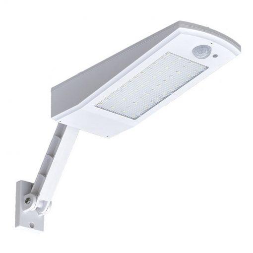 Éclairage LED solaire avec détecteur blanc