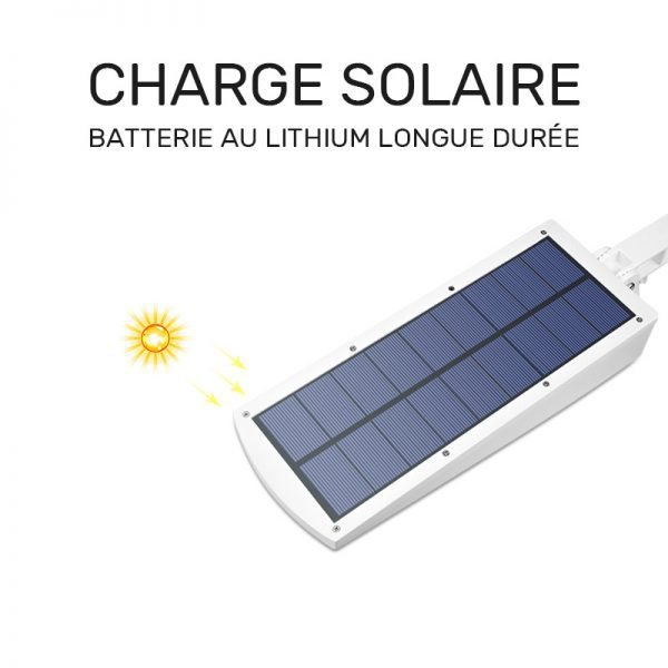 Éclairage LED solaire avec détecteur extérieur