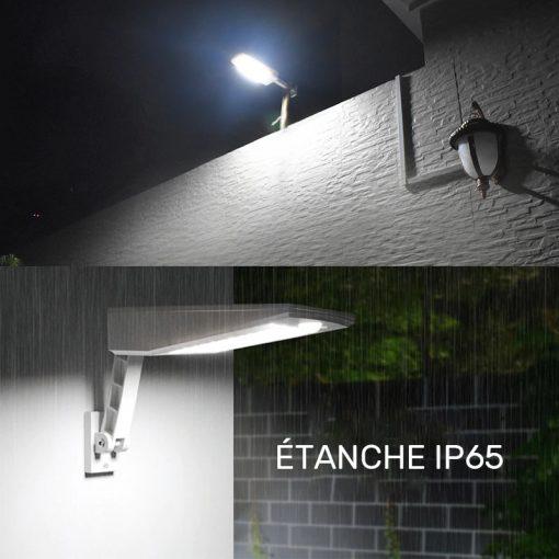 Éclairage LED solaire avec détecteur led