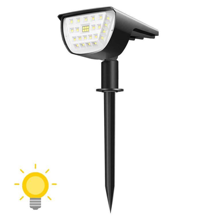 lampe solaire à piquer d'extérieur